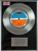 "BEN E KING - 7"" Platinum Disc - STAND BY ME"